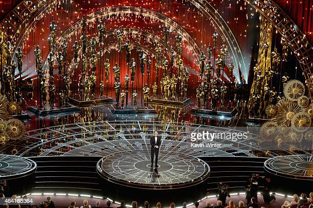 Host Neil Patrick Harris speaks onstage during the 87th Annual Academy Awards at Dolby Theatre on February 22 2015 in Hollywood California