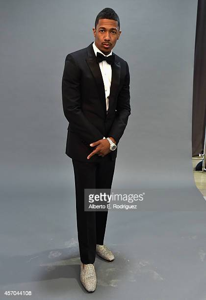 TV host Nick Cannon attends a photo shoot announcing Nick Cannon and NCredible Entertainment's partnership with MAXIM Magazine at Siren Studios on...