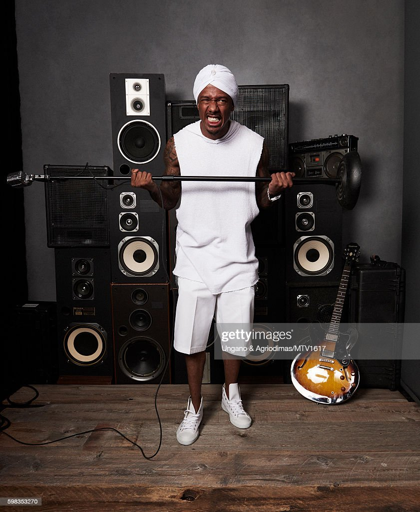 TV host Nick Cannon poses for a portrait at the 2016 MTV Video Music Awards at Madison Square Garden on August 28, 2016 in New York City.