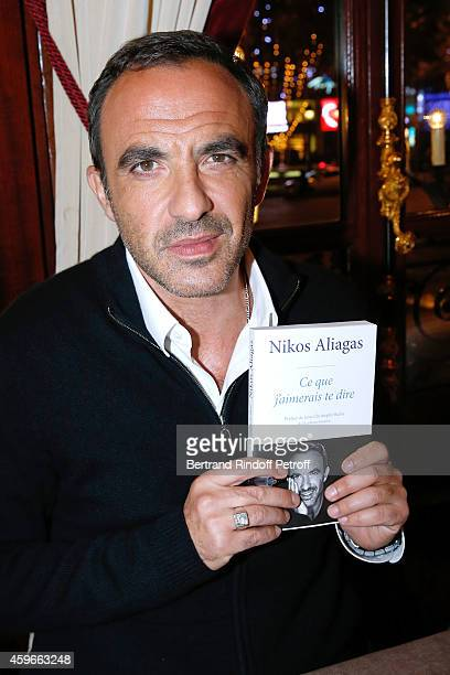 Host Nikos Aliagas attends the 37th Writers Cocktail organized by Circle Maxim's Business Club in Fairs Fouquet's on November 27 2014 in Paris France