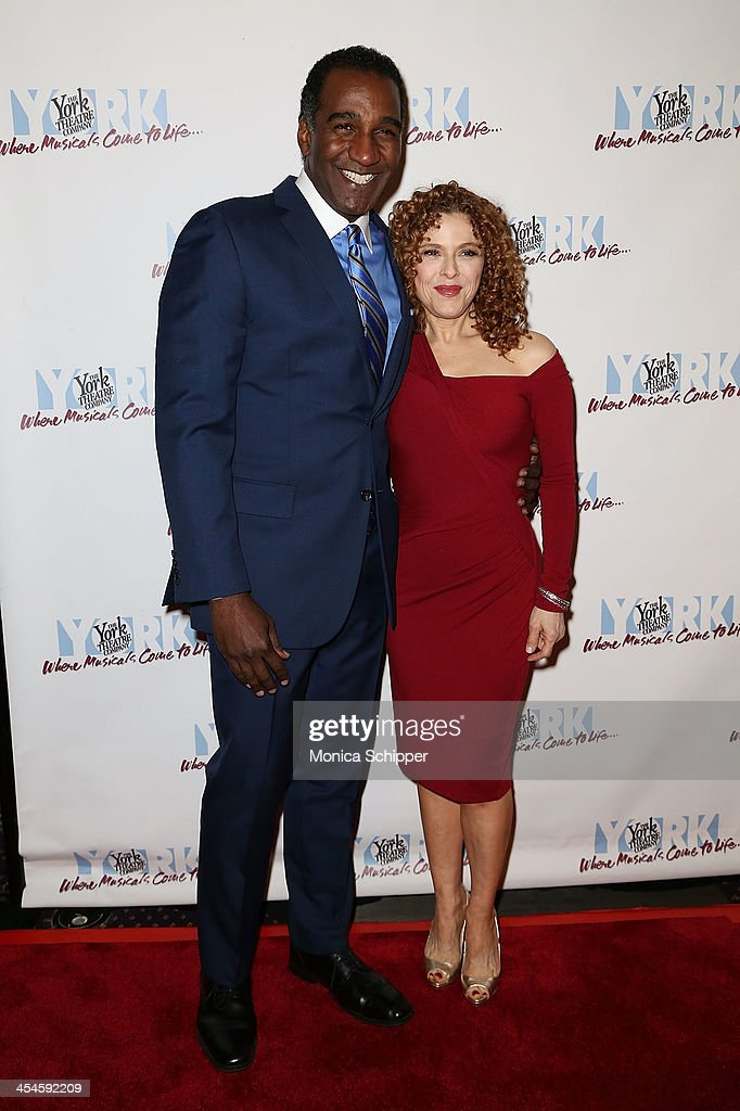 Host Norm Lewis and actress <a gi-track='captionPersonalityLinkClicked' href=/galleries/search?phrase=Bernadette+Peters&family=editorial&specificpeople=203332 ng-click='$event.stopPropagation()'>Bernadette Peters</a> attend the 22nd annual Oscar Hammerstein Award gala at The Hudson Theatre on December 9, 2013 in New York City.