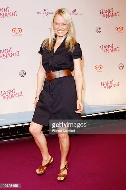 TV host Nova Meierhenrich attends the 'Hanni Nanni World Premiere' at Mathaeser cinema on May 30 2010 in Munich Germany