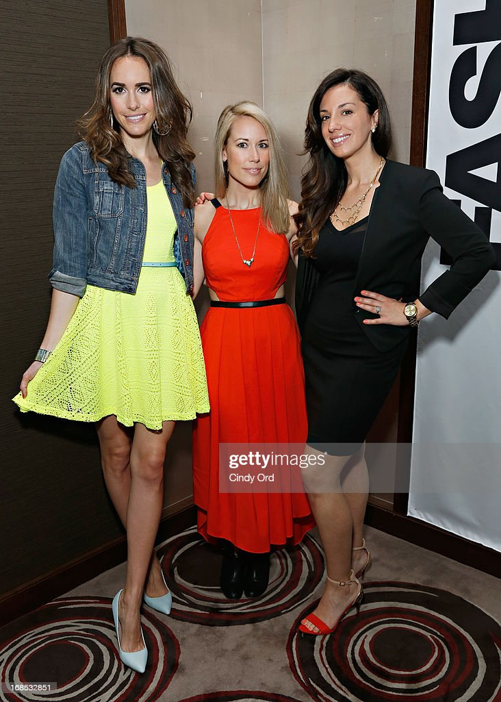 Host of 'Fashion Star' Louise Roe, winner of 'Fashion Star' Hunter Bell and Express Buyer Erika de Salvatore attend as Express hosts a breakfast to honor the winner of NBC's 'Fashion Star' on May 10, 2013 in New York City.