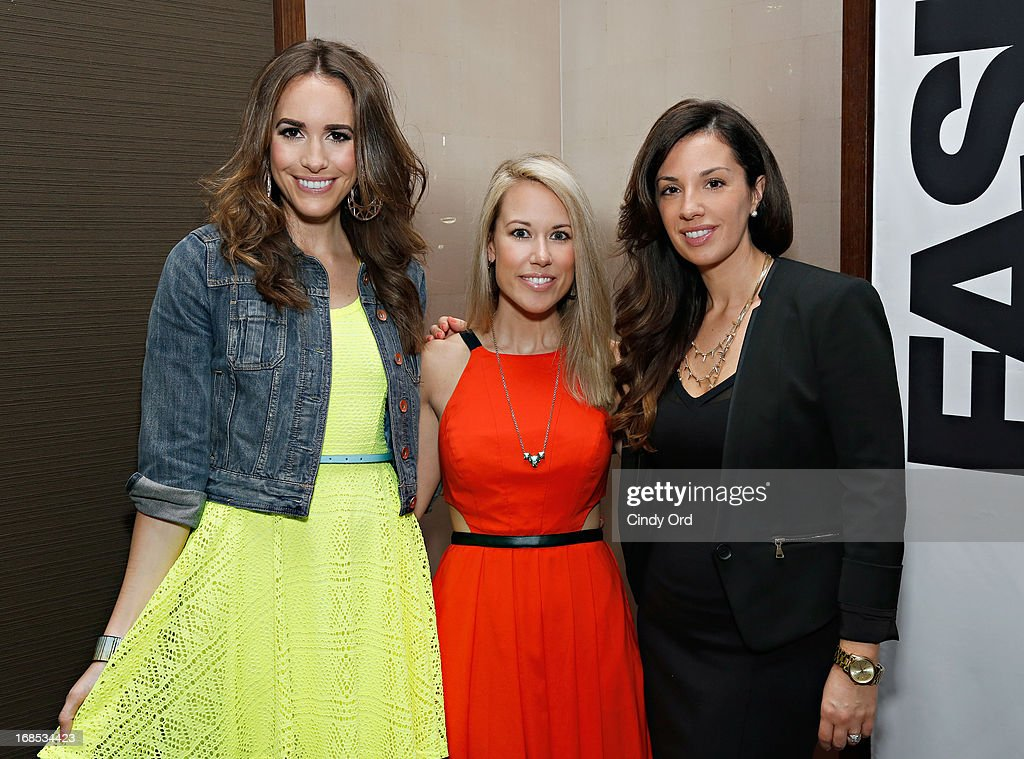 Host of 'Fashion Star' <a gi-track='captionPersonalityLinkClicked' href=/galleries/search?phrase=Louise+Roe&family=editorial&specificpeople=4300958 ng-click='$event.stopPropagation()'>Louise Roe</a>, winner of 'Fashion Star' Hunter Bell and Express Buyer Erika de Salvatore attend as Express hosts a breakfast to honor the winner of NBC's 'Fashion Star' on May 10, 2013 in New York City.