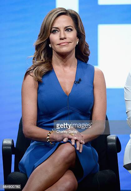 Host of 'Morning Express' Robin Meade speaks onstage during the 'Live from NY LA Atlanta' panel at the TCA Turner Summer Press Tour 2016 Presentation...