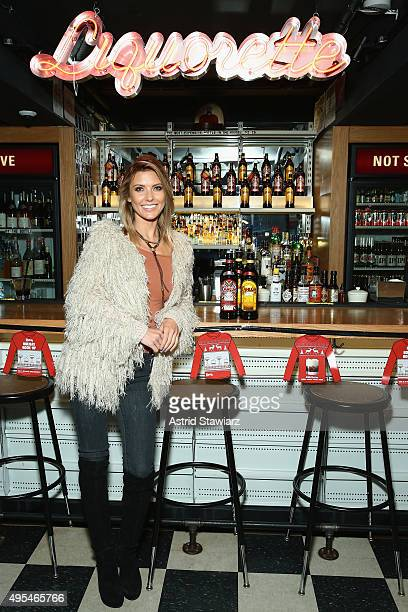 Host of NBC's 1st look Audrina Patridge shook up Kahlúa holiday cocktails at Genuine Liquorette in New York City