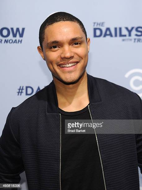 Host of The Daily Show Trevor Noah attends Comedy Central's The Daily Show With Trevor Noah Premiere Party Event on October 22 2015 in New York City