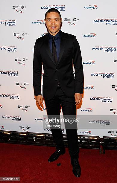 Host of the Daily Show Trevor Noah attends the 18th Annual Mark Twain Prize for Humor at The John F Kennedy Center for Performing Arts on October 18...