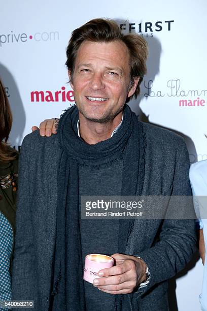 Host of the event Laurent Delahousse attends 'La Flamme Marie Claire' 7th Edition Press Conference at the Salon FranceAmeriques on June 14 2016 in...