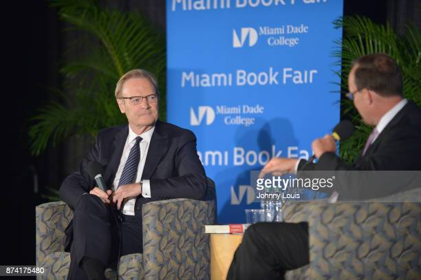 Host of The Last Word on MSNBC Lawrence O'Donnell in conversation with Tom Hudson during The Miami Book Fair at Miami Dade College Wolfson Chapman...