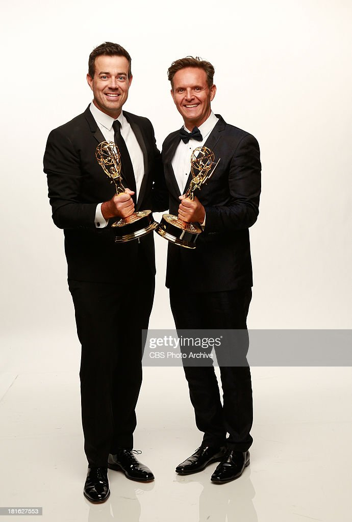 Host of THE VOICE, <a gi-track='captionPersonalityLinkClicked' href=/galleries/search?phrase=Carson+Daly&family=editorial&specificpeople=202941 ng-click='$event.stopPropagation()'>Carson Daly</a>, with executive producer <a gi-track='captionPersonalityLinkClicked' href=/galleries/search?phrase=Mark+Burnett&family=editorial&specificpeople=204697 ng-click='$event.stopPropagation()'>Mark Burnett</a> winners for Reality Competition Series for THE VOICE during the 65th Primetime Emmy Awards which will be broadcast live across the country 8:00-11:00 PM ET/ 5:00-8:00 PM PT from NOKIA Theater L.A. LIVE in Los Angeles, Calif., on Sunday, Sept. 22 on the CBS Television Network.