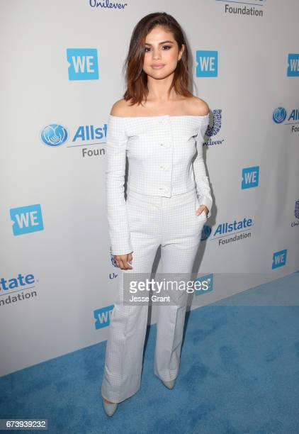 Host of WE Day California actress/singer and UNICEF Goodwill Ambassador Selena Gomez attends WE Day California to celebrate young people changing the...