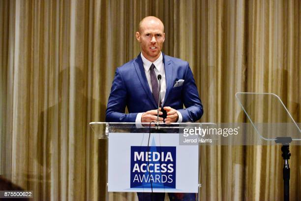 Host Oliver Trevena attends the Media Access Awards 2017 at The Four Seasons on November 17 2017 in Beverly Hills California