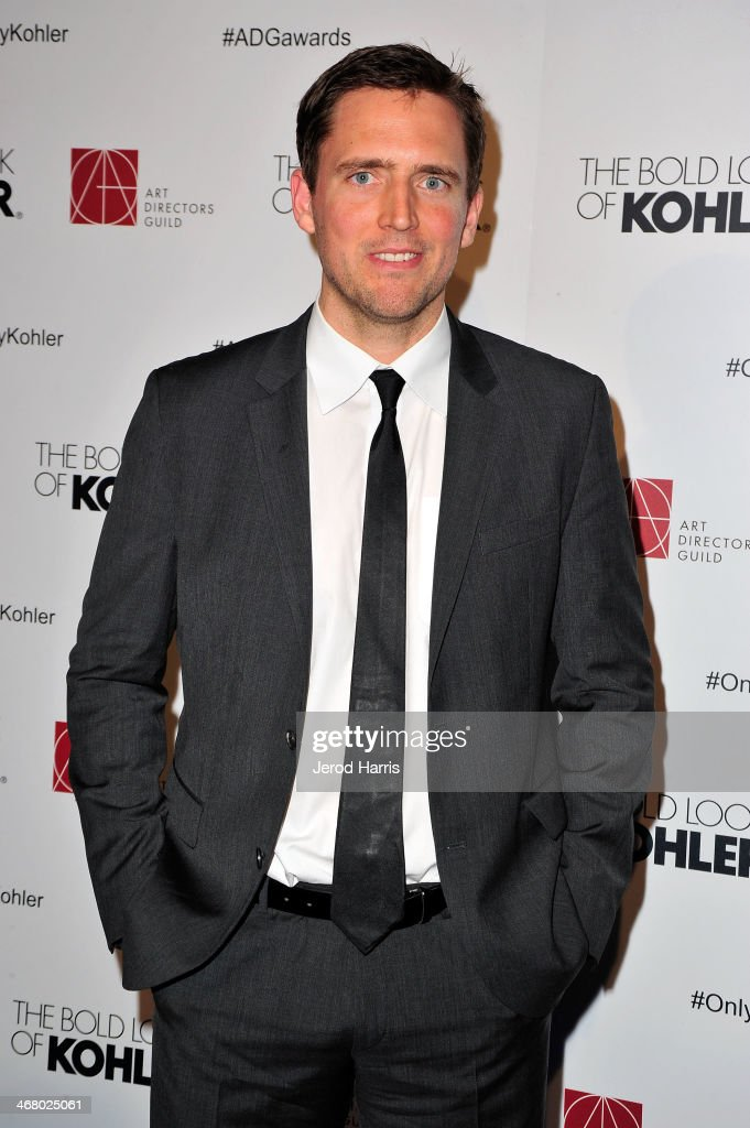 Host Owen Benjamin arrives at the 18th Annual Art Directors Guild Excellence in Production Design Awards at The Beverly Hilton Hotel on February 8, 2014 in Beverly Hills, California.