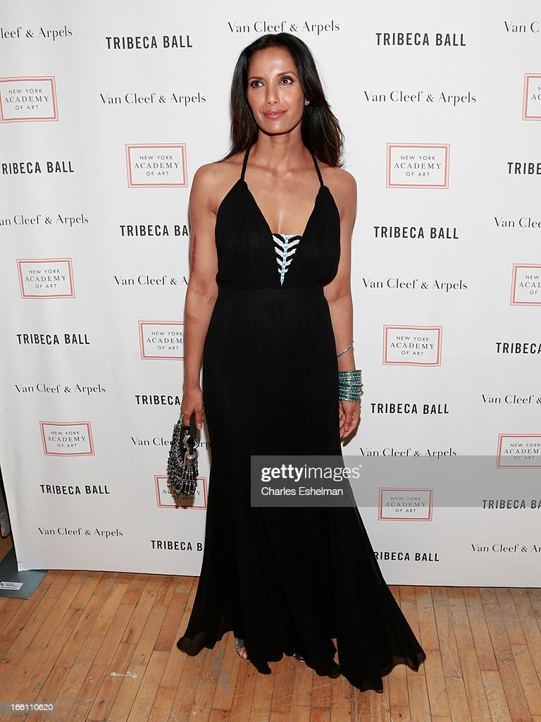 TV host Padma Lakshmi attends 2013 Tribeca Ball at New York Academy of Art on April 8, 2013 in New York City.