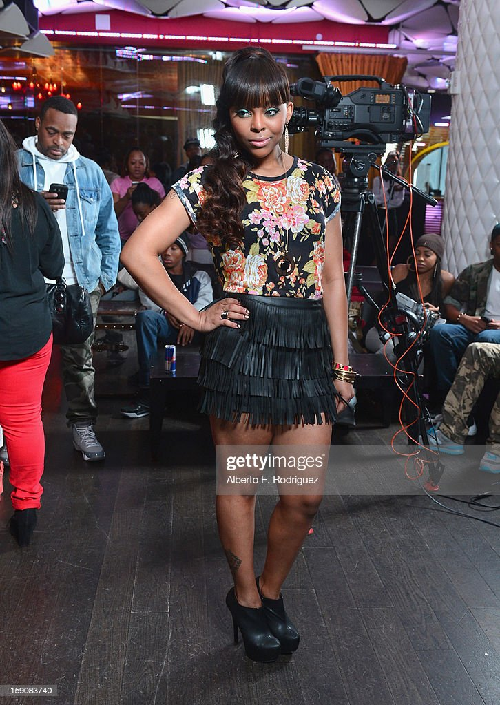 TV host Paigion at a live taping of BET's '106& Park' at The Conga Room at L.A. Live on January 4, 2013 in Los Angeles, California.