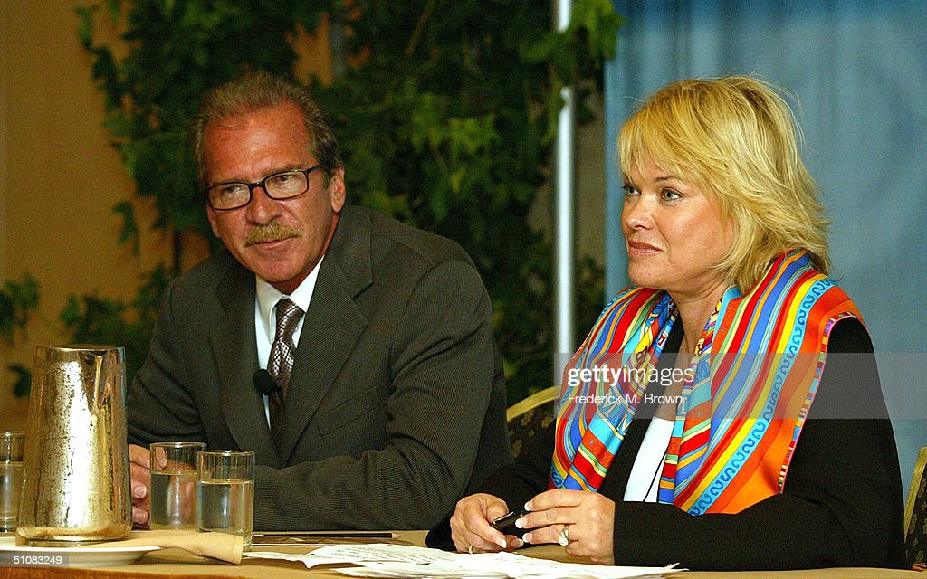Host Pat O'Brien and executive producer Linda Bell Blue of 'The Insider' speak at the TCA Press Tour CBS Day 2 at the Century Plaza Hotel July 19...