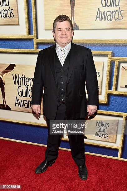 Host Patton Oswalt attends the 2016 Writers Guild Awards at the Hyatt Regency Century Plaza on February 13 2016 in Los Angeles California