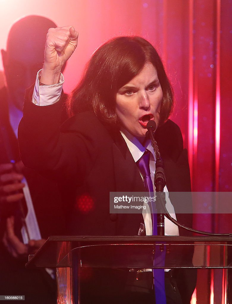 Host <a gi-track='captionPersonalityLinkClicked' href=/galleries/search?phrase=Paula+Poundstone&family=editorial&specificpeople=1018199 ng-click='$event.stopPropagation()'>Paula Poundstone</a> onstage at The 17th Annual Art Directors Guild Awards, held at the Beverly Hilton Hotel on February 2, 2013 in Beverly Hills, California.