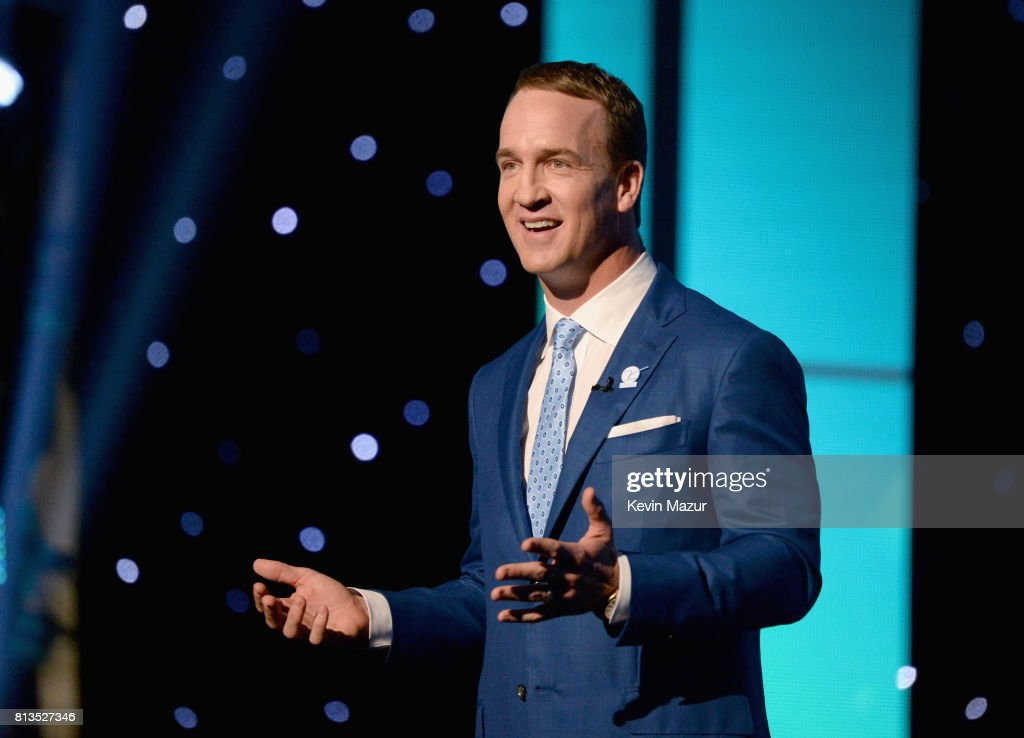 Host Peyton Manning speaks onstage at The 2017 ESPYS at Microsoft Theater on July 12, 2017 in Los Angeles, California.