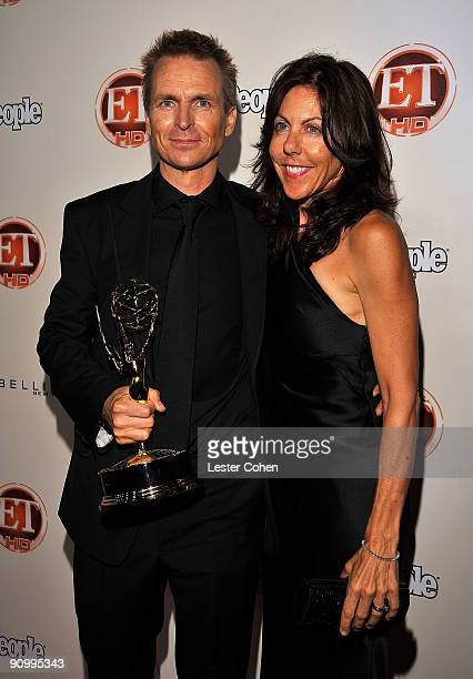 TV host Phil Keoghan and guest arrive at the 13th Annual Entertainment Tonight and People Magazine Emmys After Party at the Vibiana on September 20...