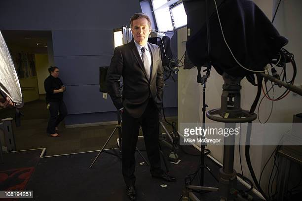 TV Host Piers Morgan poses at a portrait session for The Times Magazine on December 17 2010 in New York City