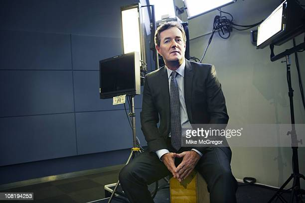 TV Host Piers Morgan poses at a portrait session for The Times Magazine on December 17 2010 in New York City PUBLISHED IMAGE