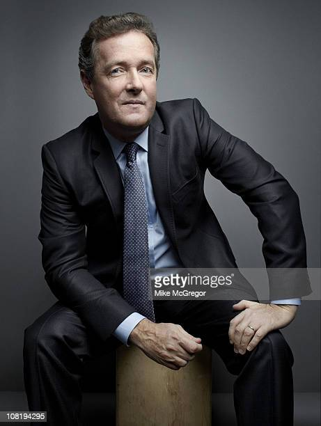 TV Host Piers Morgan poses at a portrait session for The Times Magazine on December 17 2010 in New York City COVER IMAGE