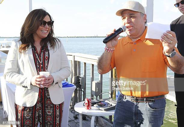 Host Rachael Ray and SOBEWFF founder Lee Schrager speak at Nutrish's Yappie Hour Hosted By Rachael Ray during the 2016 Food Network Cooking Channel...