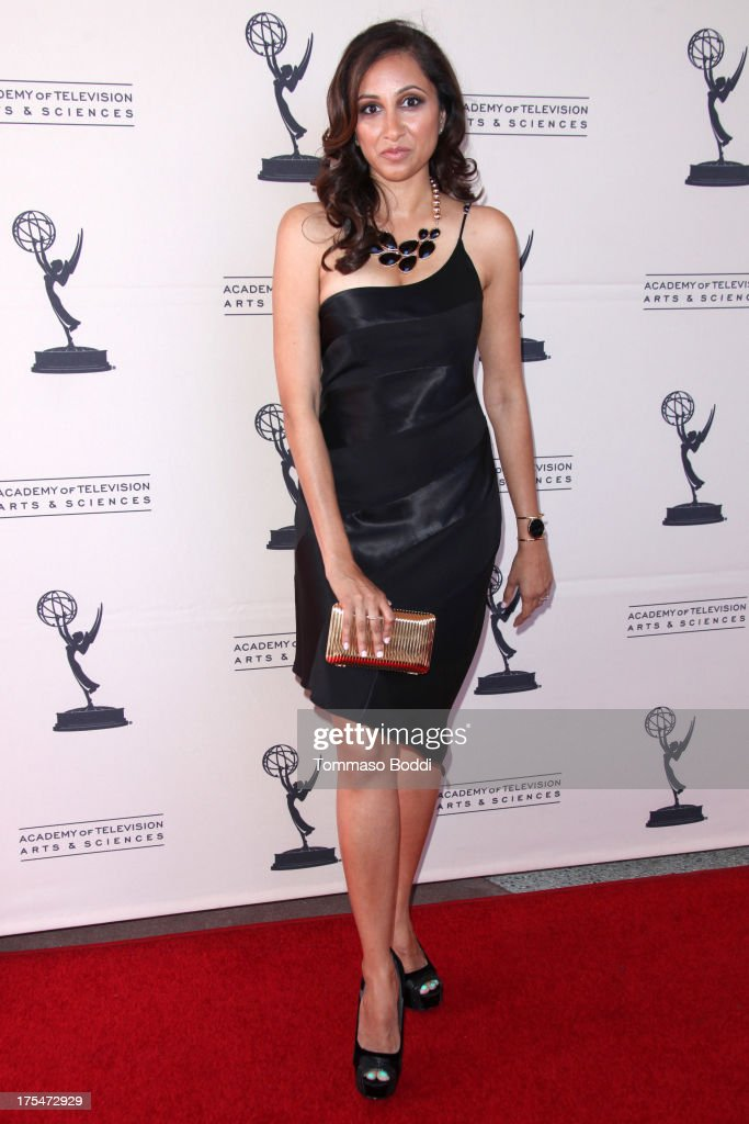 TV host Rasha Goel attends the Academy Of Television Arts & Sciences 65th Los Angeles Area EMMY Awards held at the Leonard H. Goldenson Theatre on August 3, 2013 in North Hollywood, California.