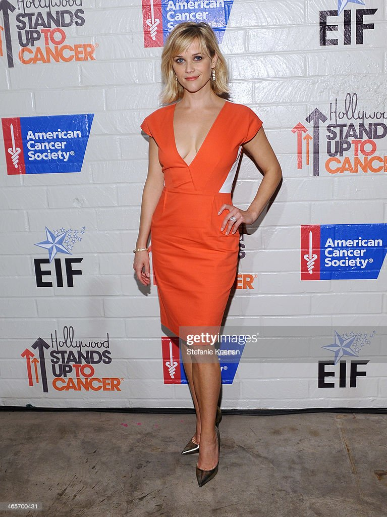 Host <a gi-track='captionPersonalityLinkClicked' href=/galleries/search?phrase=Reese+Witherspoon&family=editorial&specificpeople=201577 ng-click='$event.stopPropagation()'>Reese Witherspoon</a> attends Hollywood Stands Up To Cancer Event with contributors American Cancer Society and Bristol Myers Squibb hosted by Jim Toth and <a gi-track='captionPersonalityLinkClicked' href=/galleries/search?phrase=Reese+Witherspoon&family=editorial&specificpeople=201577 ng-click='$event.stopPropagation()'>Reese Witherspoon</a> and the Entertainment Industry Foundation on Tuesday, January 28, 2014 in Culver City, California.