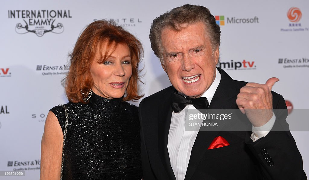 Host Regis Philbin and his wife Joy arrive at the 40th International Emmy Awards November 19, 2012 in New York. AFP PHOTO/Stan HONDA