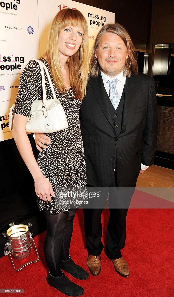 Host Richard Herring (R) arrives at the London Critics Circle Film Awards at the May Fair Hotel on January 20, 2013 in London, England.