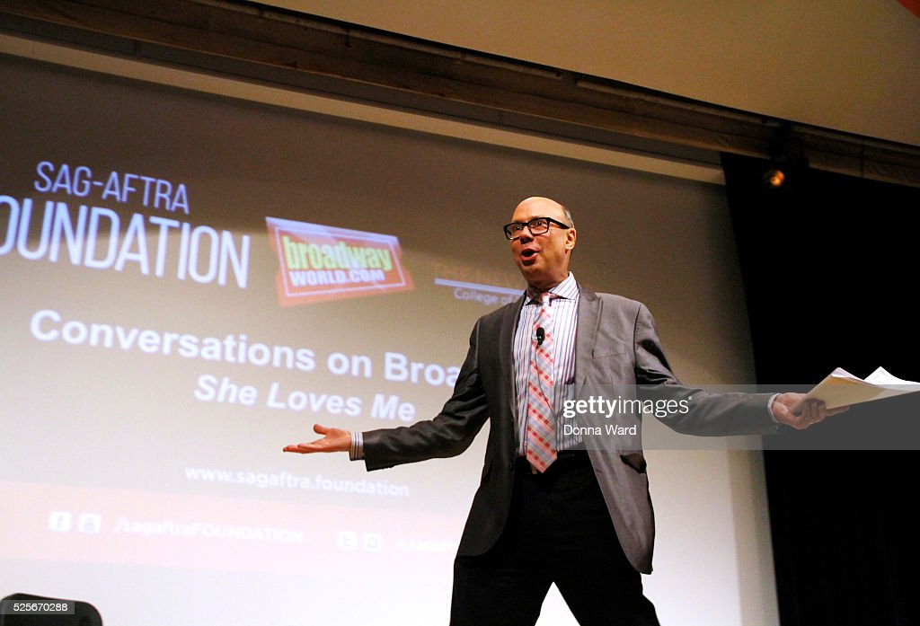 Host Richard Ridge appears to discuss 'She Loves Me' during the SAG-AFTRA Foundation Conversations series at The New School on April 28, 2016 in New York City.