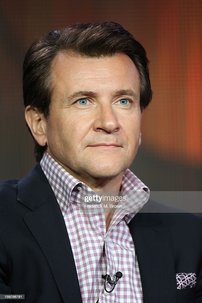 Host <a gi-track='captionPersonalityLinkClicked' href=/galleries/search?phrase=Robert+Herjavec&family=editorial&specificpeople=6129084 ng-click='$event.stopPropagation()'>Robert Herjavec</a> of 'Shark Tank' speaks onstage during the ABC portion of the 2013 Winter TCA Tour at Langham Hotel on January 10, 2013 in Pasadena, California.