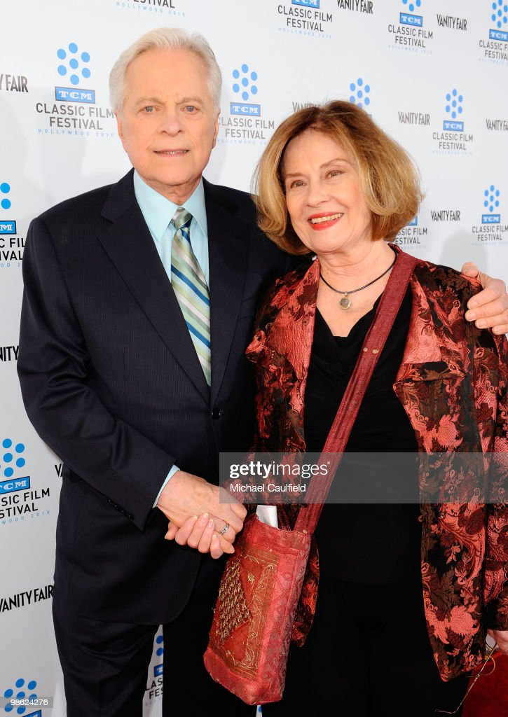 TV host Robert Osborne and actress Diane Baker attend the Opening Night Gala of the newly restored 'A Star Is Born' premiere at Grauman's Chinese...