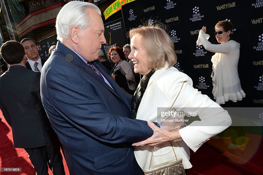 Host Robert Osborne and actress Eva Marie Saint attend the 'Funny Girl' screening during the 2013 TCM Classic Film Festival Opening Night at TCL...