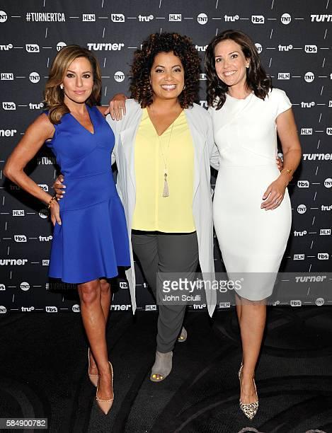 Host Robin Meade of 'Morning Express' Host Michaela Pereira of 'Michaela' and host Erica Hill of HLN attend the TCA Turner Summer Press Tour 2016...