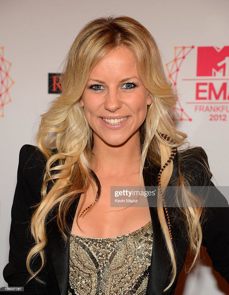 VIVA host Romina Becks attends the MTV EMA's 2012 at Festhalle Frankfurt on November 11, 2012 in Frankfurt am Main, Germany.
