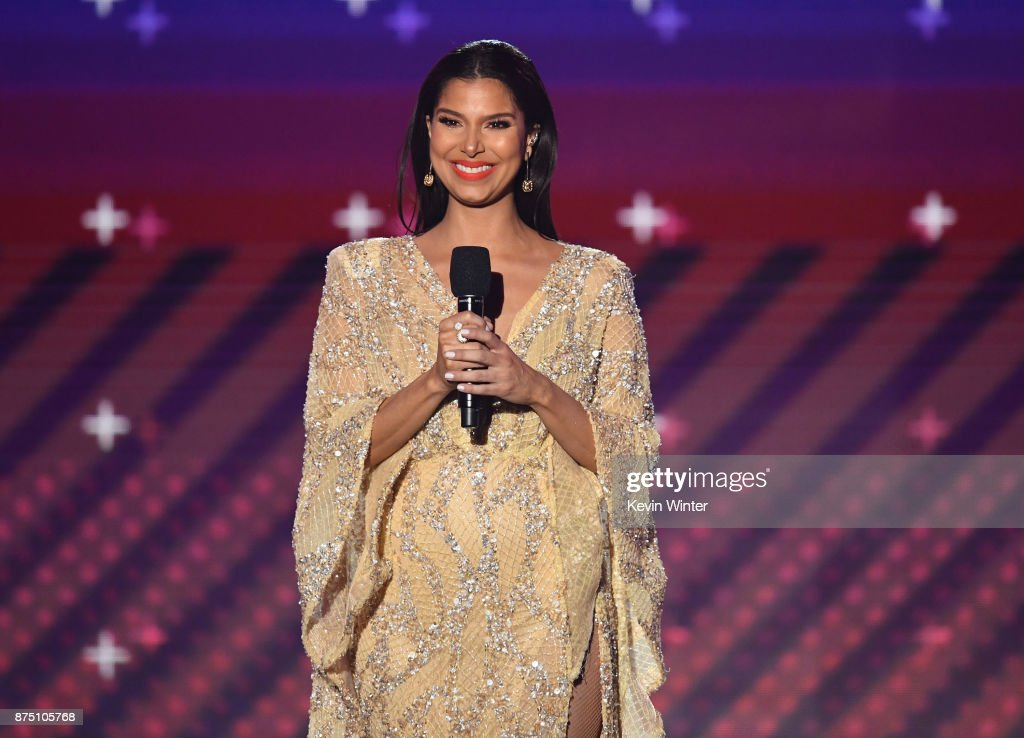 Host Roselyn Sanchez speaks onstage at the 18th Annual Latin Grammy Awards at MGM Grand Garden Arena on November 16, 2017 in Las Vegas, Nevada.