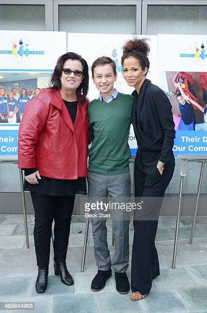 TV host Rosie O'Donnell and Hayden Byerly and actress Sherri Saum attend the I Have A Dream Foundation Los Angeles Annual Dreamer Dinner at Skirball...