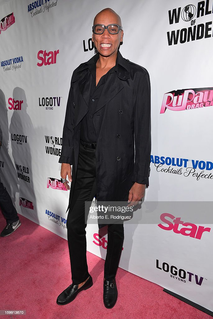 TV host RuPaul arrives to the premiere of 'RuPaul's Drag Race' Season 5 at The Abbey on January 22, 2013 in West Hollywood, California.