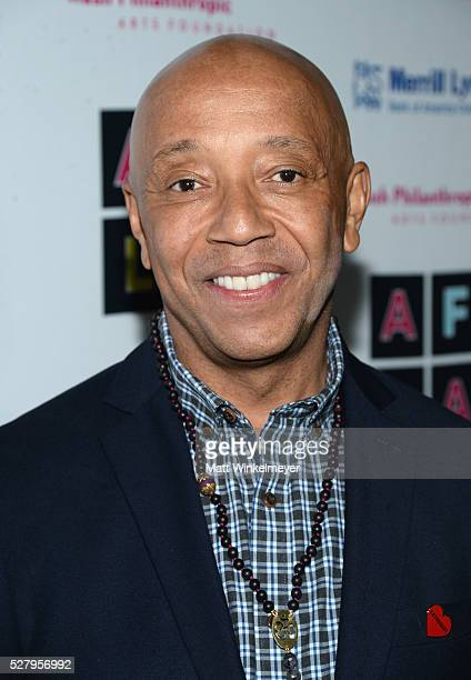 Host Russell Simmons attends Russell Simmons' Rush Philanthropic Arts Foundation's inaugural Art For Life Los Angeles at Private Residence on May 3...