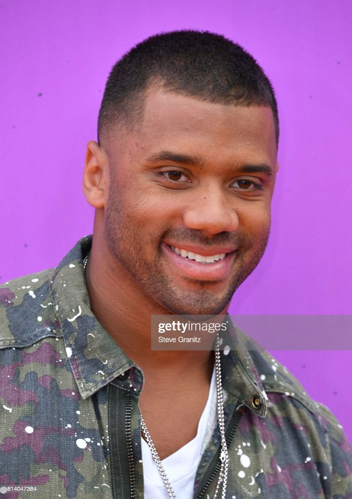 Host Russell Wilson attend Nickelodeon Kids' Choice Sports Awards 2017 at Pauley Pavilion on July 13, 2017 in Los Angeles, California.