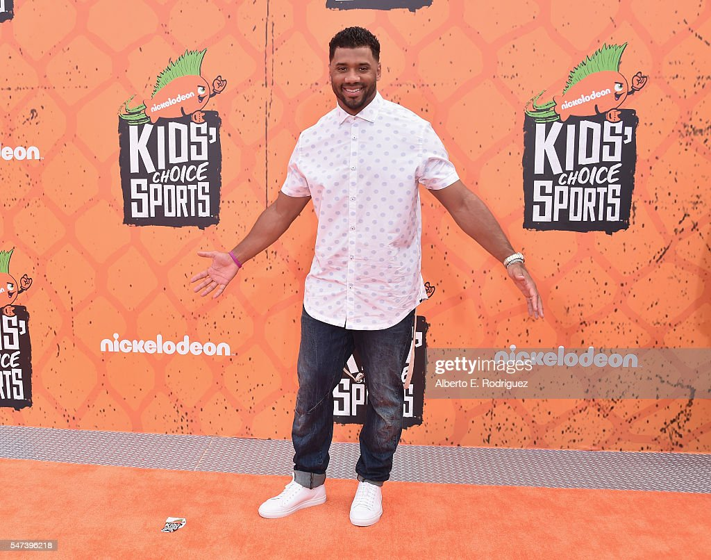 Host Russell Wilson attends the Nickelodeon Kids' Choice Sports Awards 2016 at UCLA's Pauley Pavilion on July 14, 2016 in Westwood, California.