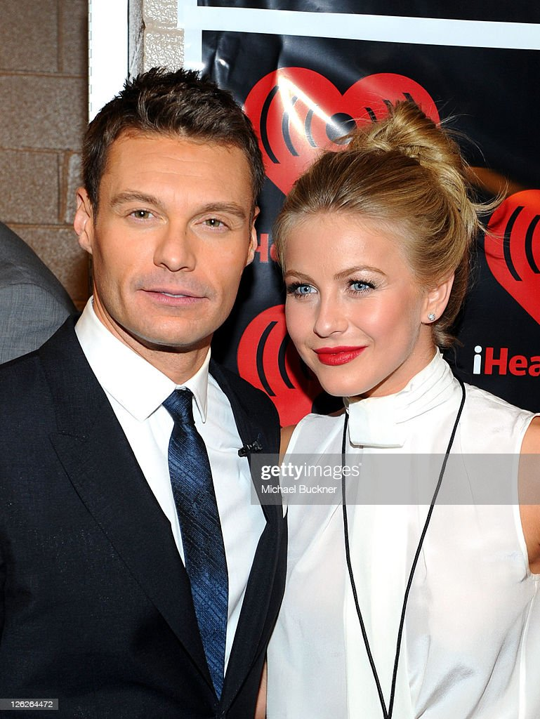 Host ryan seacrest l and tv personality julianne hough pose in the