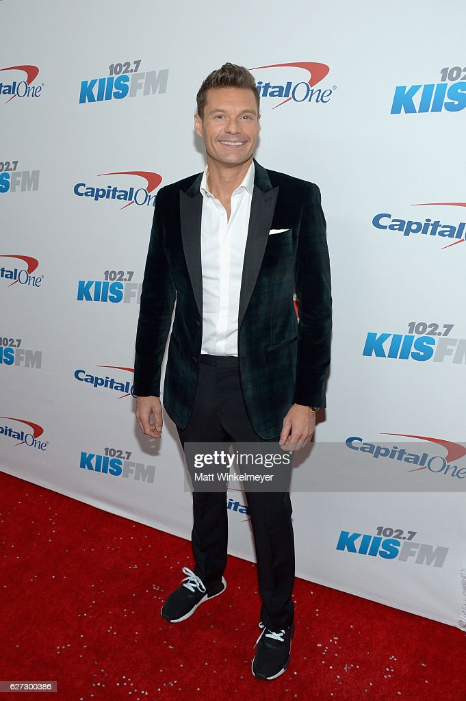 Host Ryan Seacrest attends 102.7 KIIS FM's Jingle Ball 2016 at Staples Center on December 2, 2016 in Los Angeles, California.