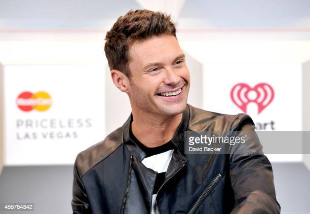 Host Ryan Seacrest attends the 2014 iHeartRadio Music Festival at the MGM Grand Garden Arena on September 19 2014 in Las Vegas Nevada