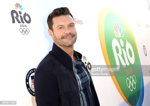 Host Ryan Seacrest attends the NBC Olympic Social Opening Ceremony at Jonathan Beach Club on July 26 2016 in Santa Monica California