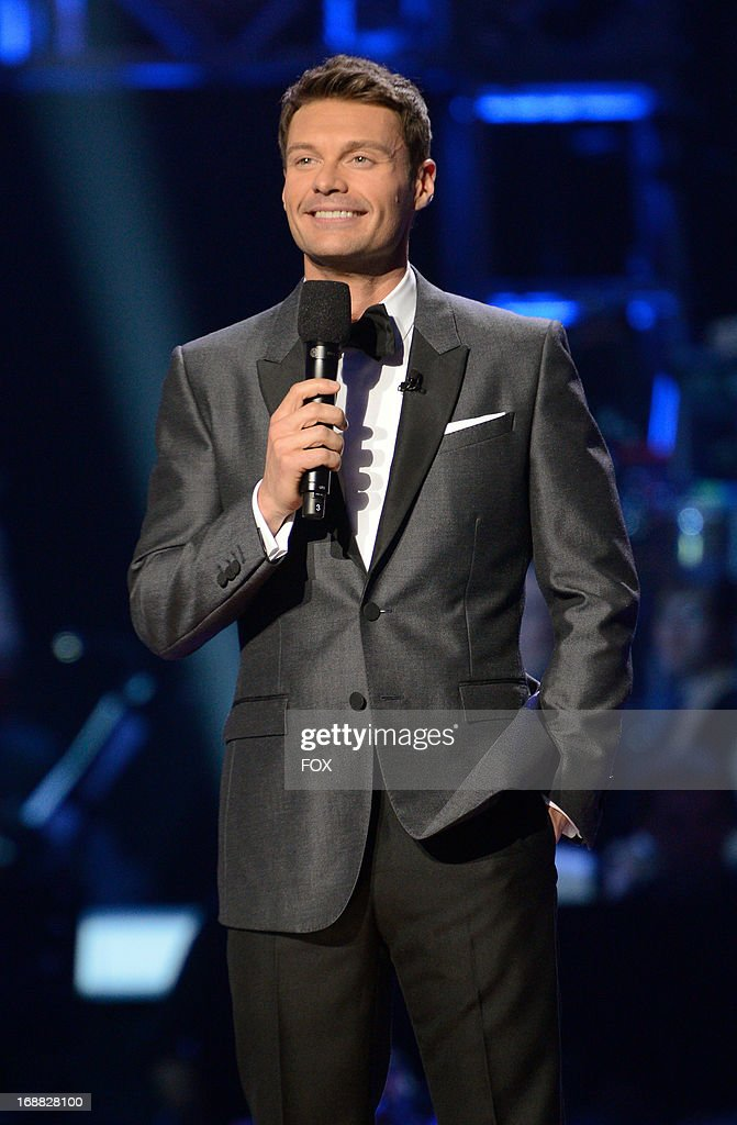 Host Ryan Seacrest onstage at FOX's 'American Idol' Season 12 Top 2 Live Performance Show at Nokia Theatre L.A. Live on May 15, 2013 in Los Angeles, California.